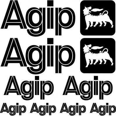 Kit stickers agip