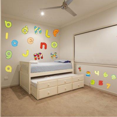 kit Stickers alphabet et chiffres