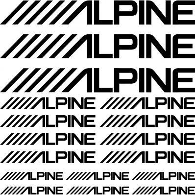 Kit stickers alpine