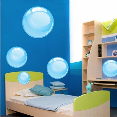 Autocollant Stickers enfant kit 5 bulles d ' eau