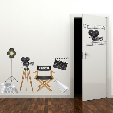 Autocollant Stickers ado accessoires cinema