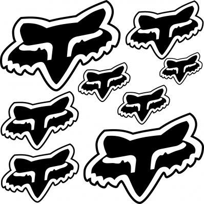 Kit stickers fox