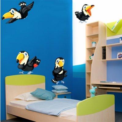 Autocollant Stickers enfant oiseau toucan