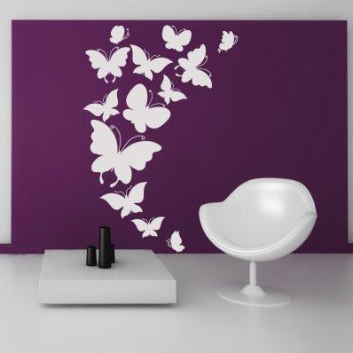 Kit Vinilo decorativo 13 mariposas