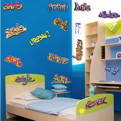 Kit Vinilo decorativo  15 graffiti