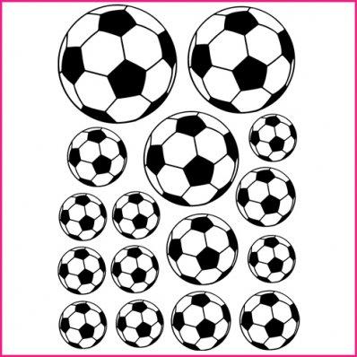 Kit Vinilo decorativo  16 balones de fútbol