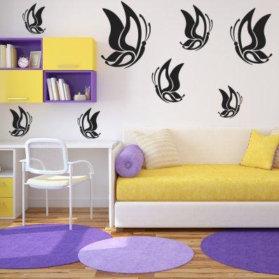 Kit Vinilo decorativo  17 mariposas