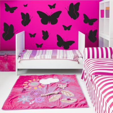 Kit Vinilo decorativo  23 mariposas