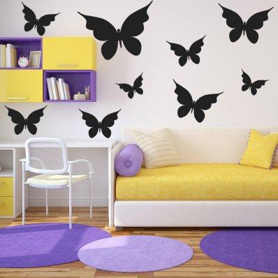 Kit Vinilo decorativo  27 mariposas