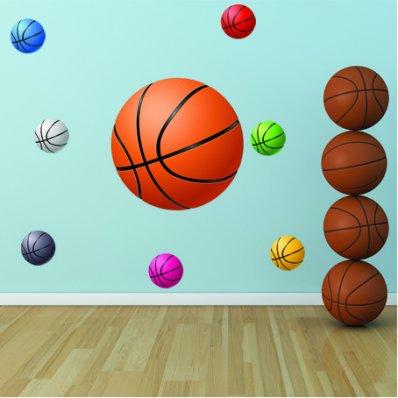 Kit Vinilo decorativo 8 globos de baloncesto
