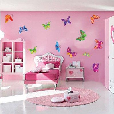 Kit Vinilo decorativo infantil 12 mariposas