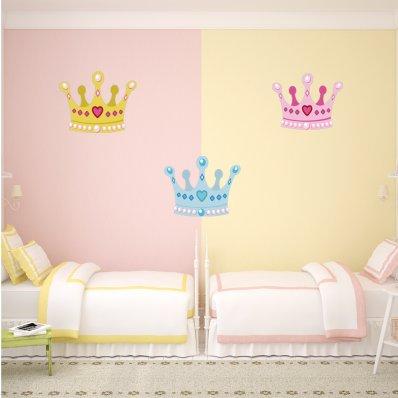 Kit Vinilo decorativo infantil 3 coronas