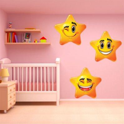 Kit Vinilo decorativo infantil 3 estrellas