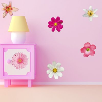 Kit Vinilo decorativo infantil 6 flores