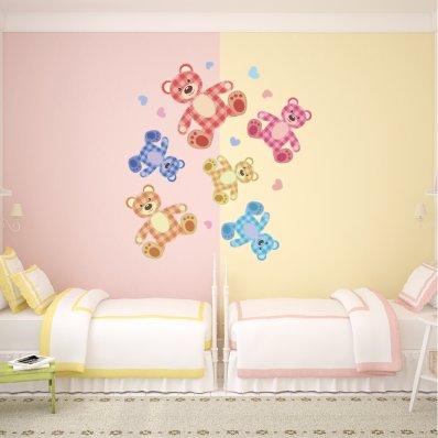 Kit Vinilo decorativo infantil 6 osos