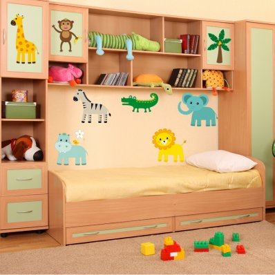 Kit Vinilo decorativo infantil 7 animales