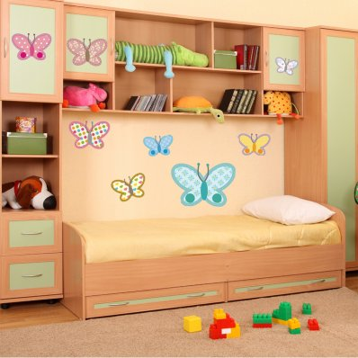 Kit Vinilo decorativo infantil 8 mariposas