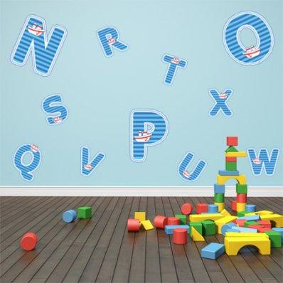Kit Vinilo decorativo infantil alfabeto