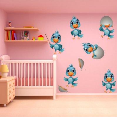 Kit Vinilo decorativo infantil aves