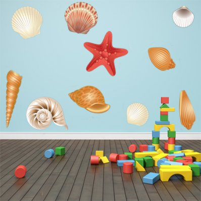 Kit Vinilo decorativo infantil cascara