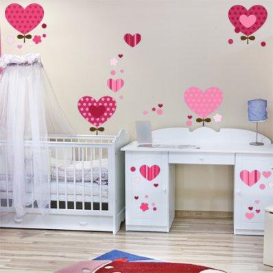 Kit Vinilo decorativo infantil corazónes