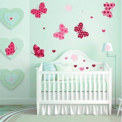 Kit Vinilo decorativo infantil mariposas