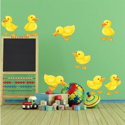 Kit Vinilo decorativo infantil polluelos