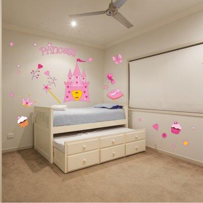 Kit Vinilo decorativo infantil princesa accesoriose
