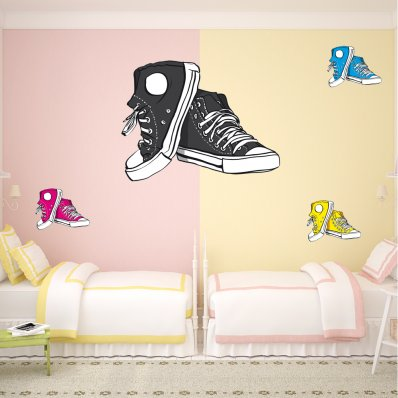Kit Vinilo decorativo zapatos