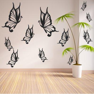 Komplet 22 naklejek - Motyle