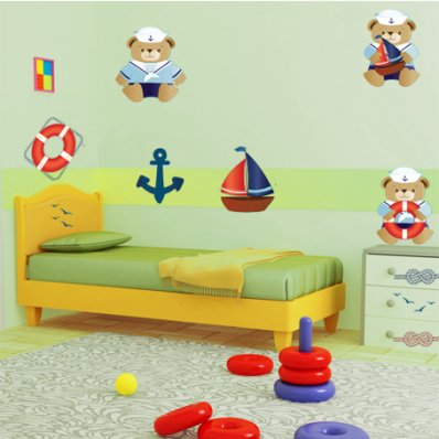 Komplet 3 naklejek Dla Dzieci - Niedźwiadki
