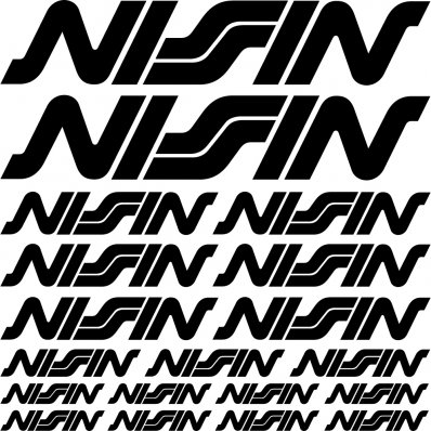 Komplet  naklejek - Nissin