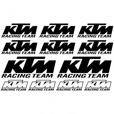 ktm racing team Decal Stickers kit