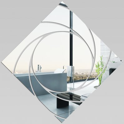 Miroir plexiglass acrylique carr spirales pas cher for Miroir 100x100