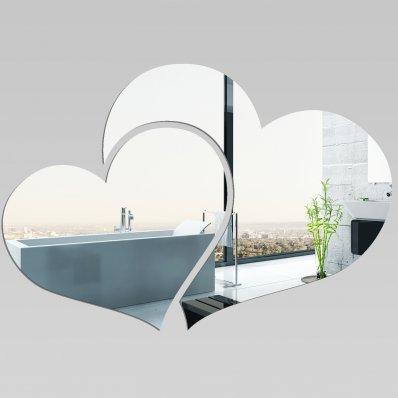 Miroir Acrylique Plexiglass Deux Coeurs