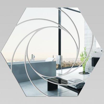 Miroir Acrylique Plexiglass Hexagone Spirales 1