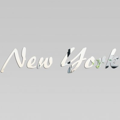 Miroir Acrylique Plexiglass NY lettres