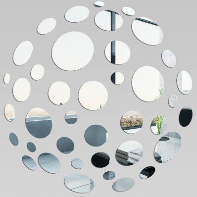 Miroir plexiglass acrylique baroque 1 pas cher for Petits miroirs ronds