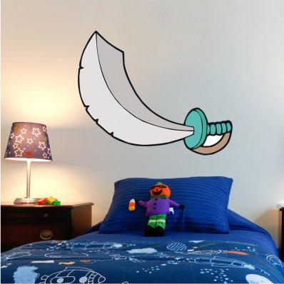 Naklejka ścienna Dla Dzieci - Miecz Piratów