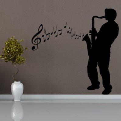 Naklejka ścienna - Jazzman