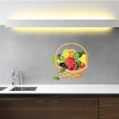 Naklejka ścienna - Koszyk owoców