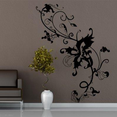Naklejka ścienna - Kwiat Barok