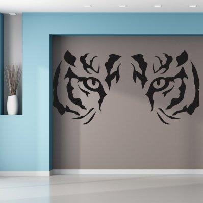 Naklejka ścienna - Oczy Tygrysa