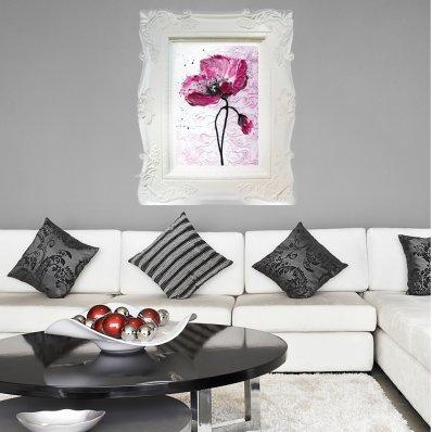 Naklejka ścienna - Rama Obrazu Kwiat Maku