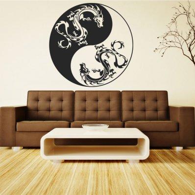 Naklejka ścienna - Ying&Yang Smok