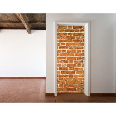 Naklejka na Drzwi - Cegły