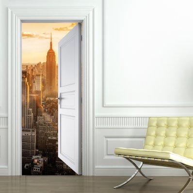 Naklejka na Drzwi - Manhattan