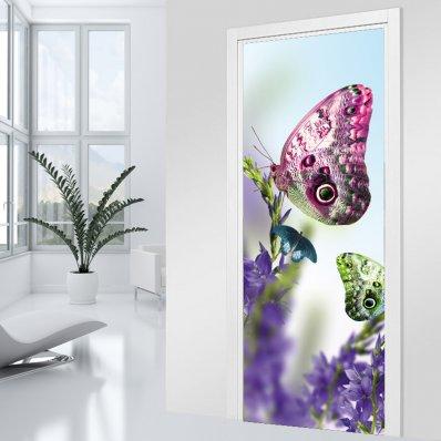 Naklejka na Drzwi - Motyle