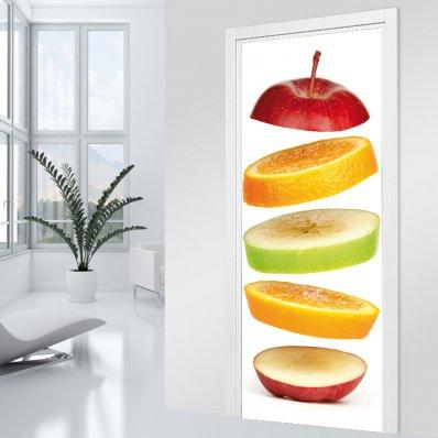 Naklejka na Drzwi - Owoce
