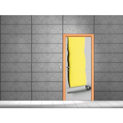 Naklejka na Drzwi - Podarte Drzwi